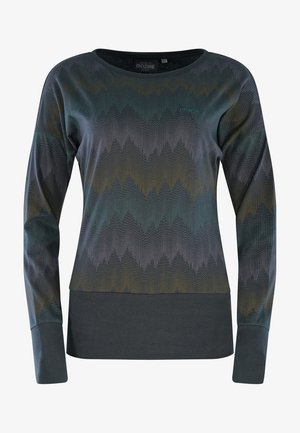 Long sleeved top - deep ocean  zig zag