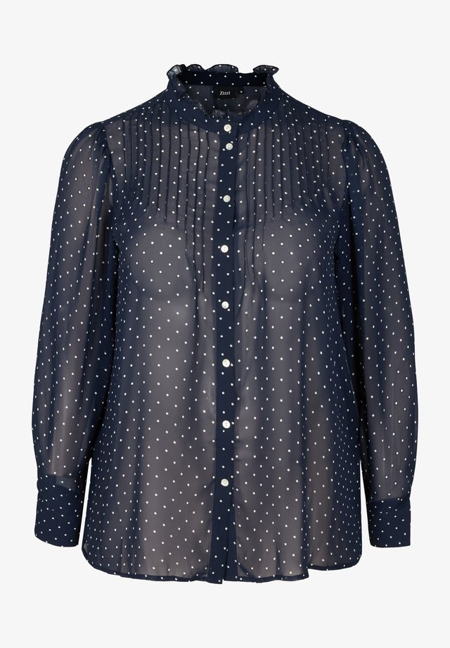 Overhemdblouse - dark blue