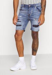 Brave Soul - LOUIS - Denim shorts - blue wash - 0