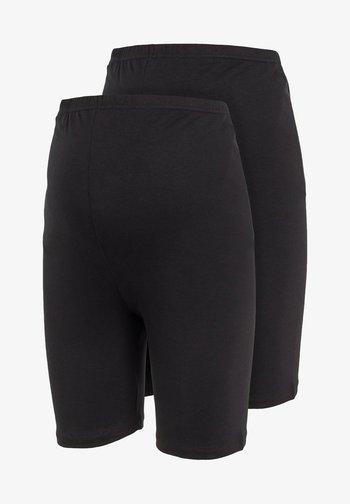 2ER-PACK DEHNBARE JERSEY - Shorts - black
