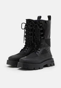 MISBHV - LACE UP COMBAT BOOT - Lace-up boots - black - 1