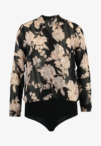 New Look - FLORAL BODY - Blouse - black - 3