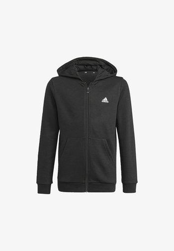 ESSENTIALS  - Zip-up sweatshirt - black