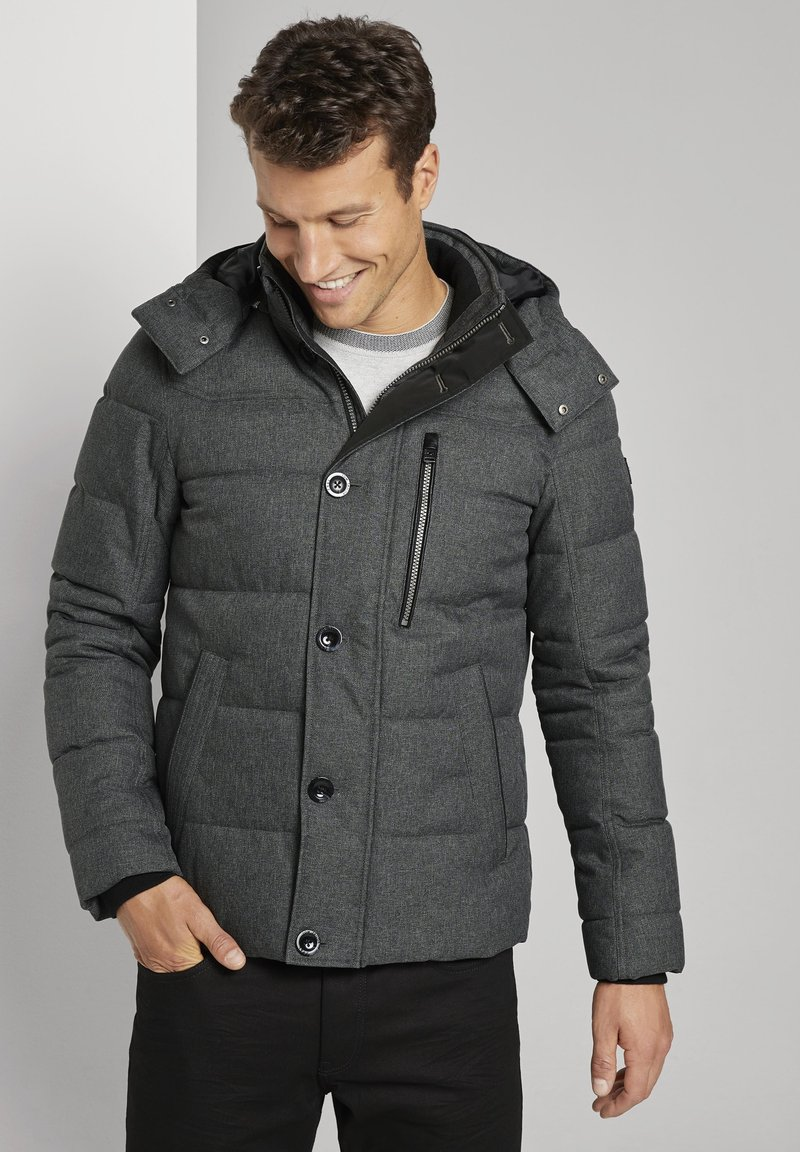 TOM TAILOR - Winterjas - mid grey structure