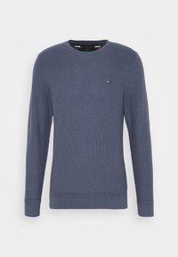HONEYCOMB CREW NECK - Pullover - blue