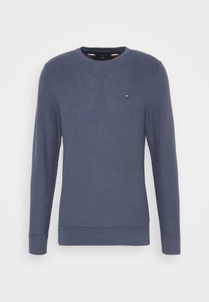 HONEYCOMB CREW NECK - Jersey de punto - blue