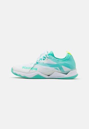 WING LITE 2.0 WOMEN - Handball shoes - white/turquoise