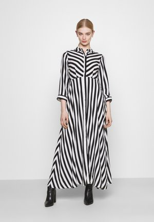 YASSAVANNA LONG DRESS - Długa sukienka - black/ white stripes
