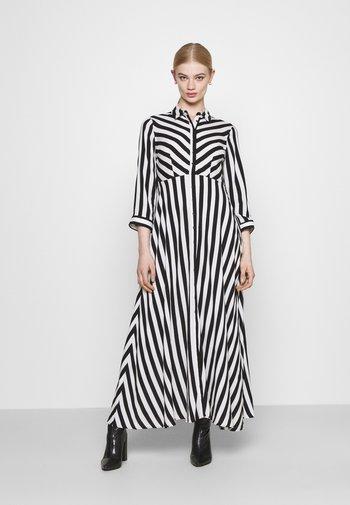 YASSAVANNA LONG DRESS - Maxi dress - black/ white stripes