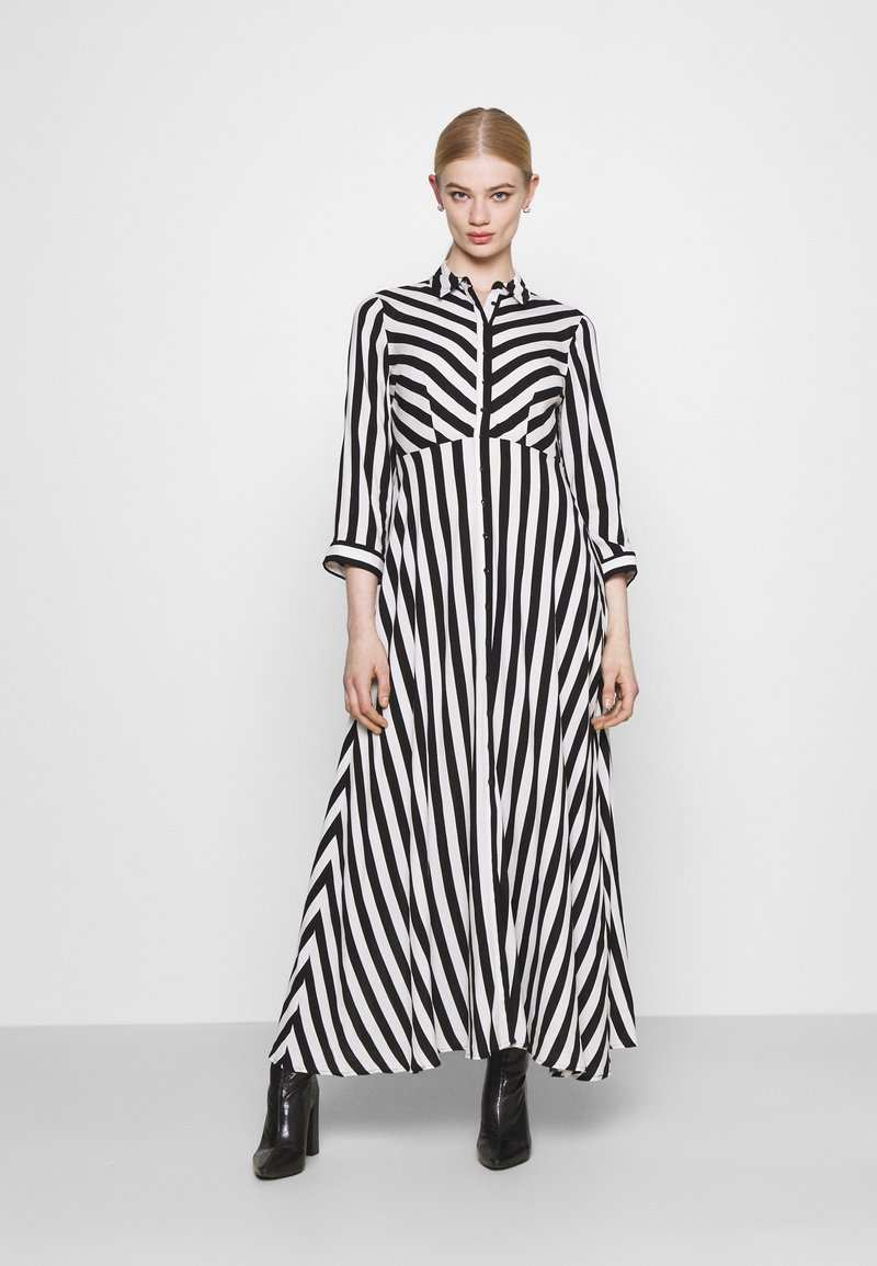 YAS - YASSAVANNA LONG DRESS - Maksimekko - black/ white stripes