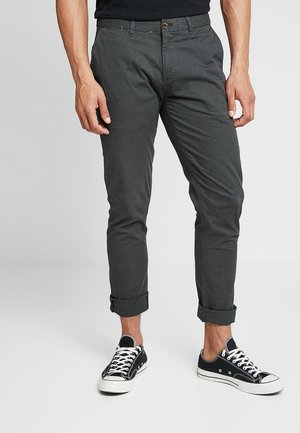 STUART CLASSIC SLIM FIT - Chinosy - charcoal