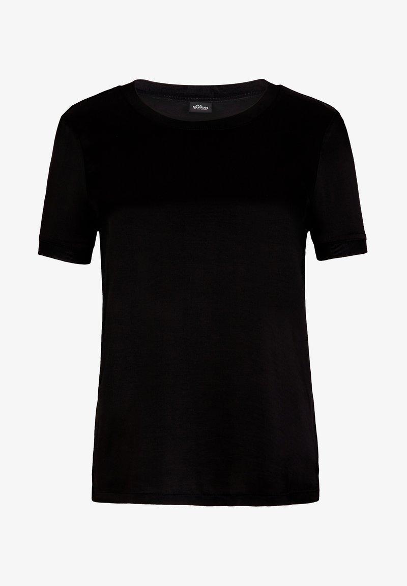s.Oliver BLACK LABEL KURZARM - Bluse - true black/schwarz 0G1fAh