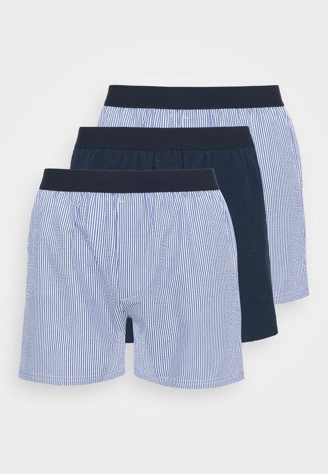 LOOSE  3 PACK - Boxer shorts - light blue/dark blue