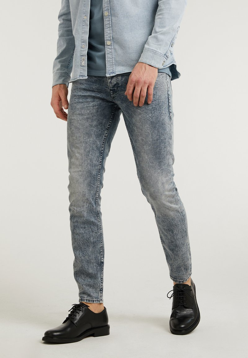 CHASIN' - EGO LUCA - Slim fit jeans - blue