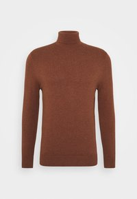 Burton Menswear London - FINE GAUGE ROLL  - Pullover - ginger