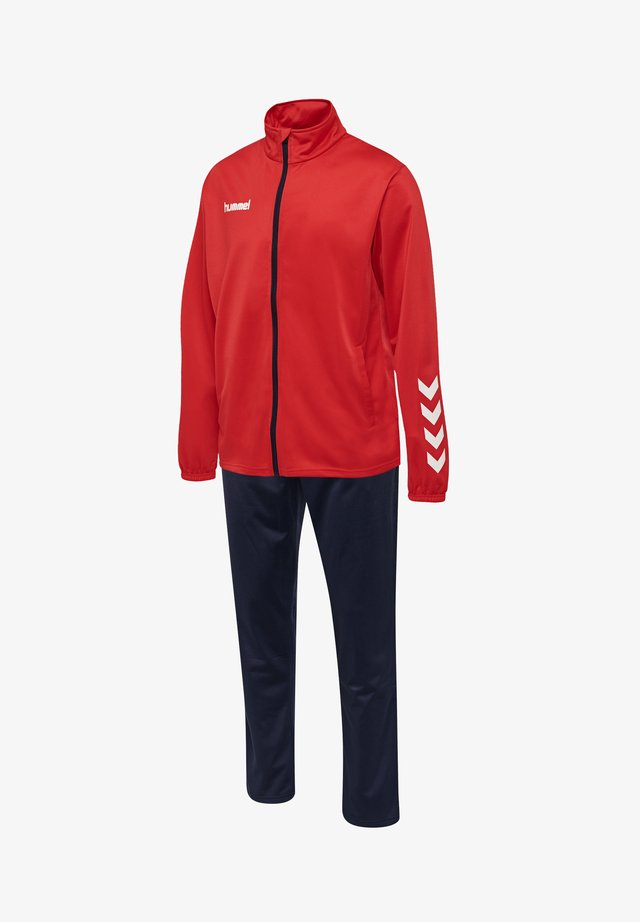 TWO PIECE SET - Training jacket - true red/marine