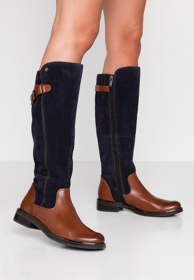 Boots - cognac/ocean