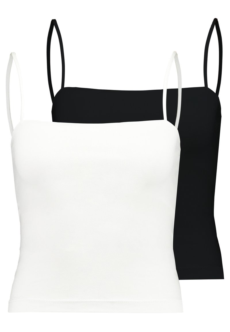 Gina Tricot - SCARLETT SINGLET 2 PACK - Top - black/white