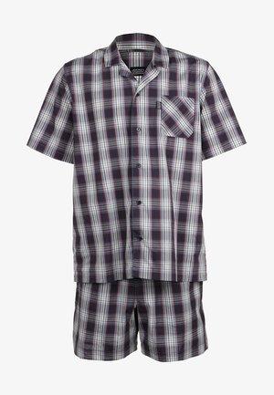 PYJAMA 1/2 WOVEN - Pyjama set - red/white