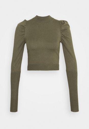 CROPPED JUMPER WIT PUFF LONG SLEEVES