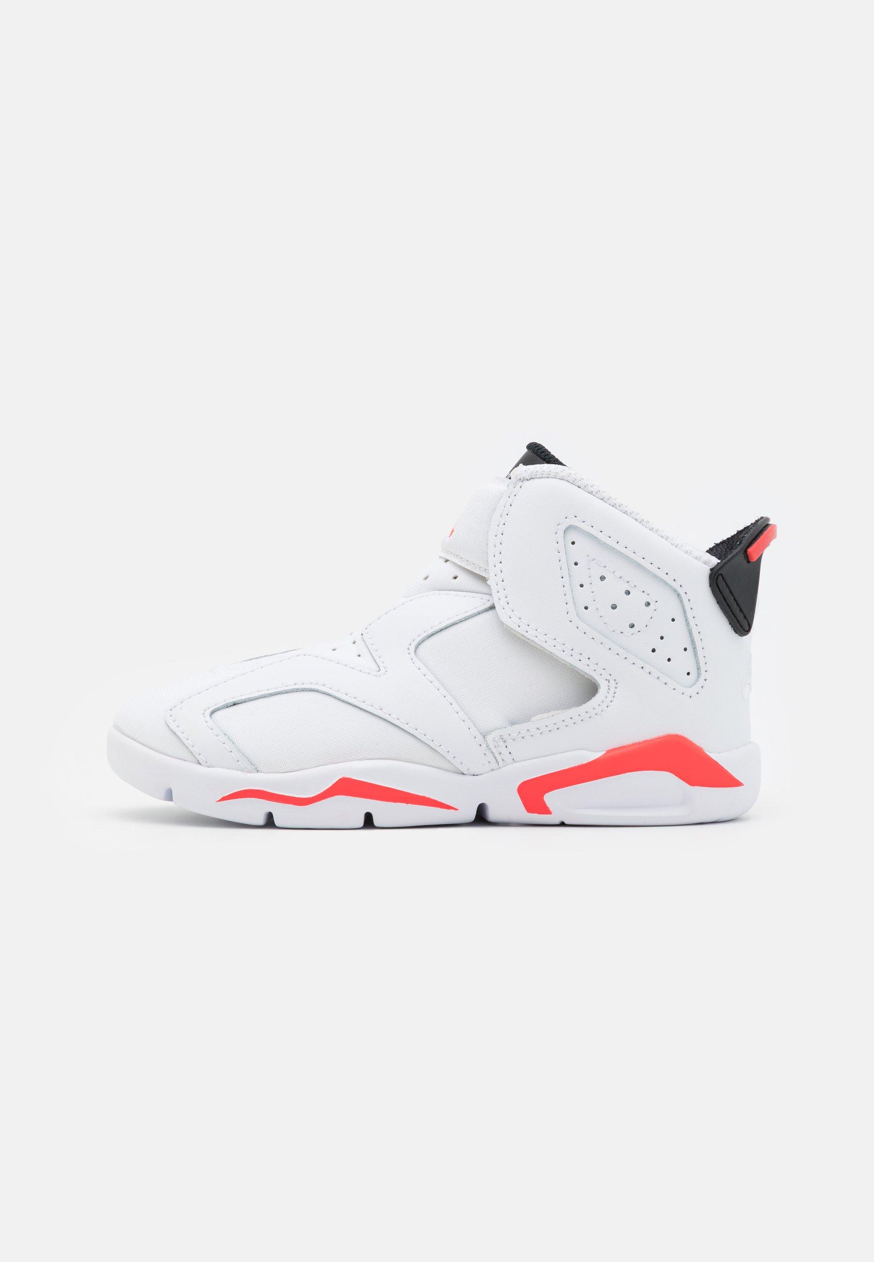 6 RETRO LITTLE FLEX UNISEX - Chaussures de basket - white/infrared/black