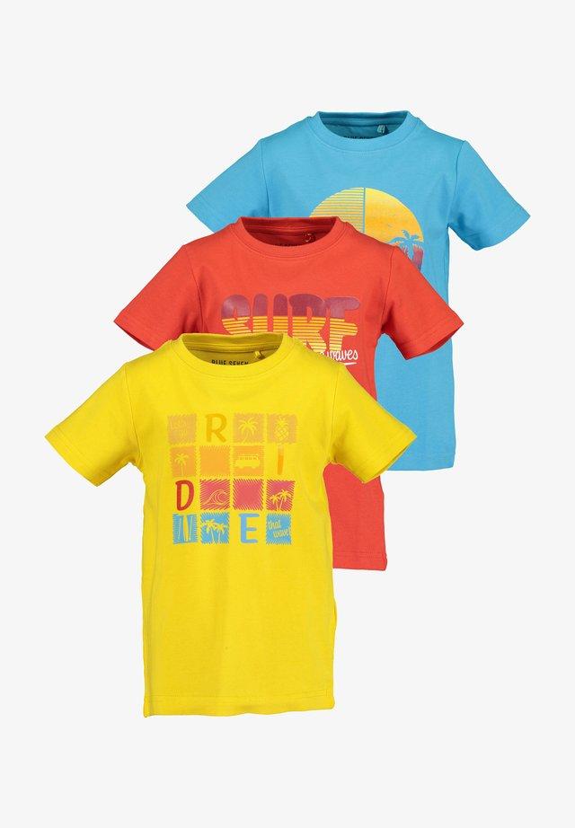 BEACH DUDE - T-shirt print - yellow