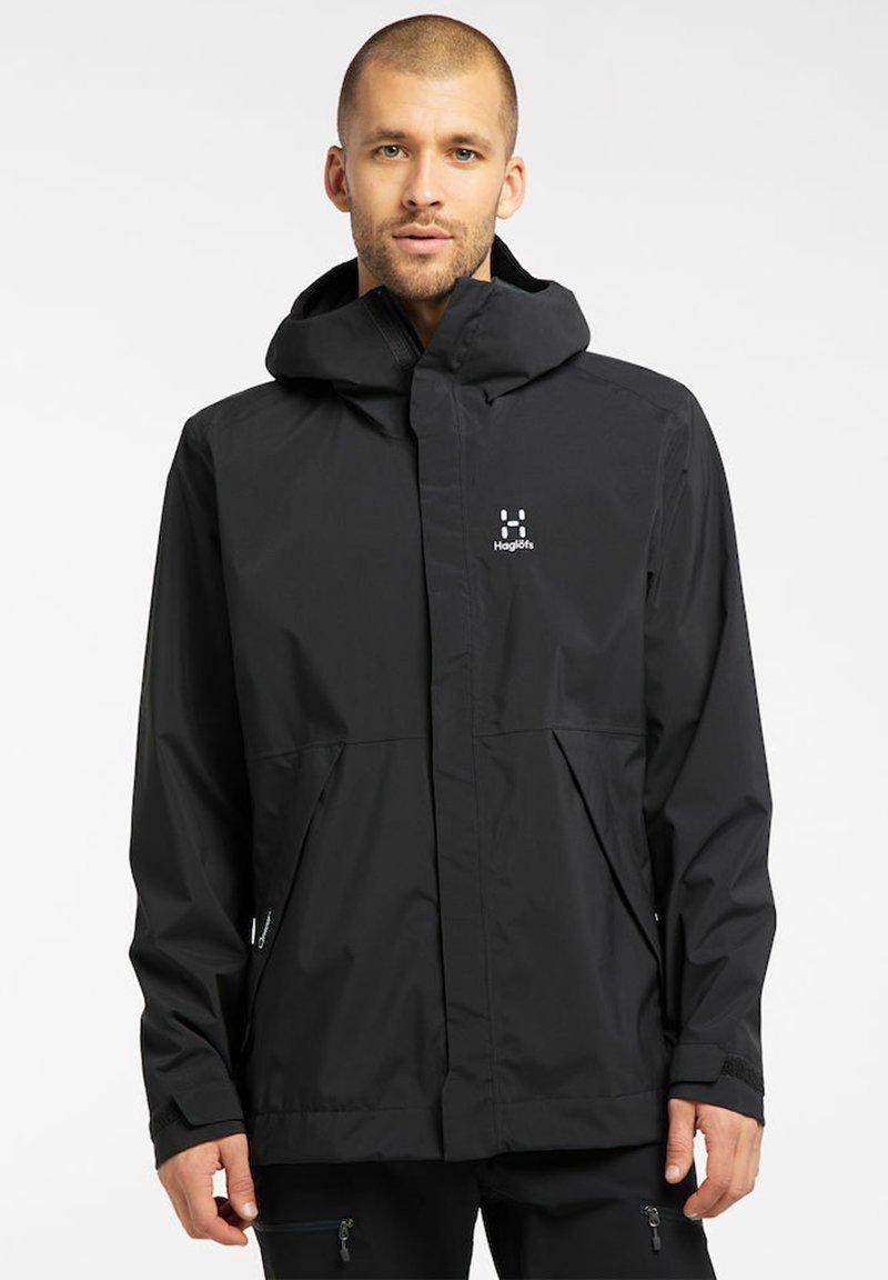 Haglöfs - TJÄRN JACKET  - Hardshell jacket - true black