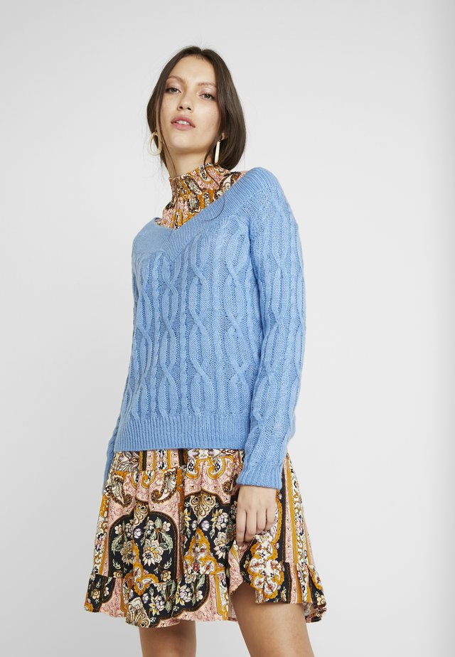 LIGHT WEIGHT BARDOT - Jumper - blue