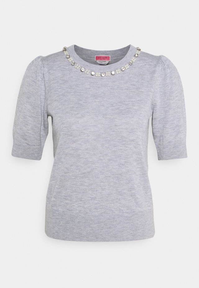 Print T-shirt - gris heather