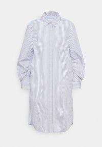 Marc O'Polo - DRESS CHEST POCKET STRIPE PATCH HIDDEN BUTTONS - Shirt dress - off-white - 0