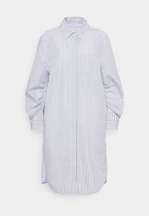 DRESS CHEST POCKET STRIPE PATCH HIDDEN BUTTONS - Shirt dress - off-white