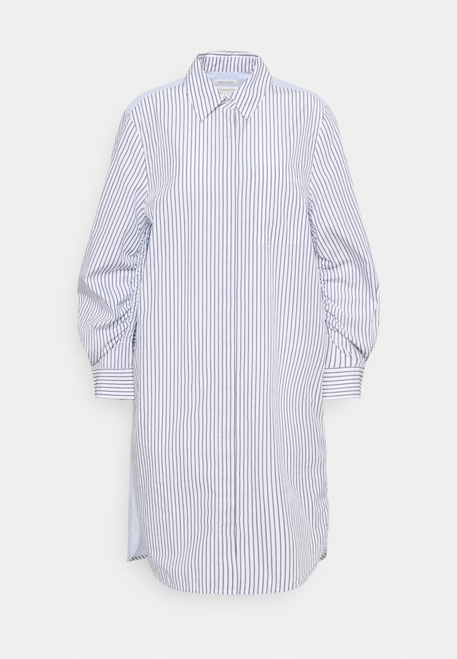 DRESS CHEST POCKET STRIPE PATCH HIDDEN BUTTONS - Robe chemise - off-white