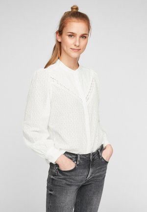 MIT AUSBRENNERMUSTER - Blouse - offwhite