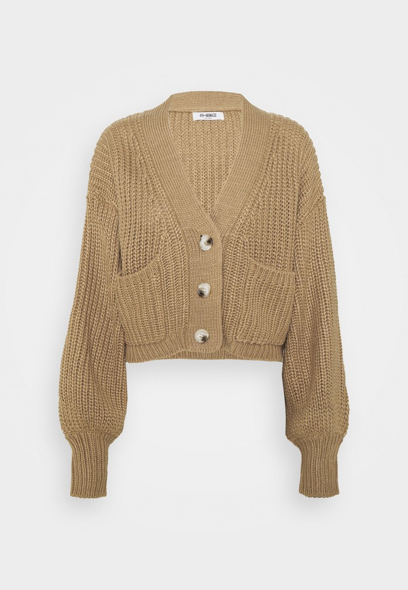 4th & Reckless - HENRY - Cardigan - cream/camel