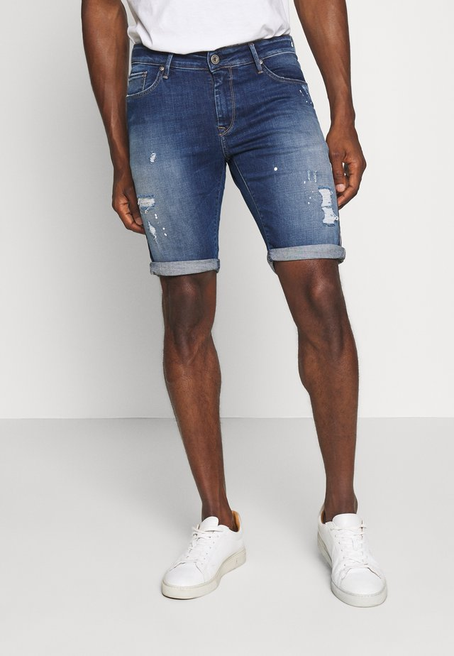 TAMARIN - Szorty jeansowe - dark blue