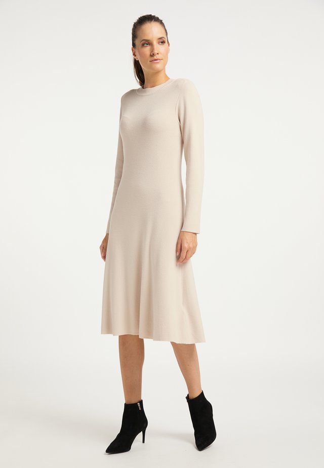Gebreide jurk - silber beige