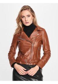 BTFCPH - EMMA - Leather jacket - cognac - 0