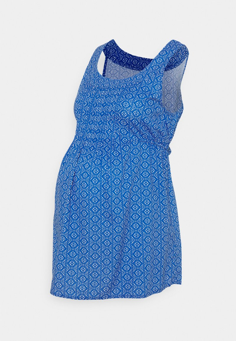 JoJo Maman Bébé - BATIK PRINT MATERNITY CAMISOLE - Blouse - blue