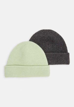 VERA HAT 2PACK - Lue - sage green/light grey