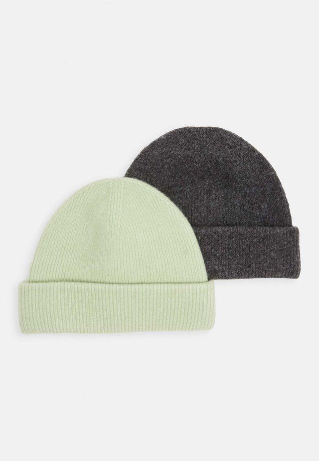 VERA HAT 2PACK - Beanie - sage green/light grey