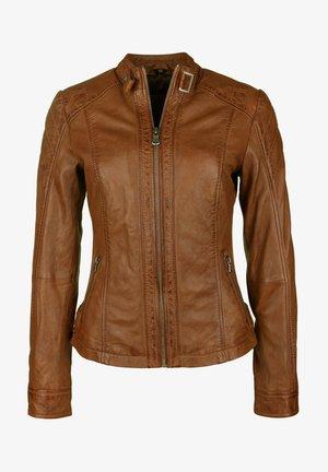 ELIZA - Leather jacket - cognac