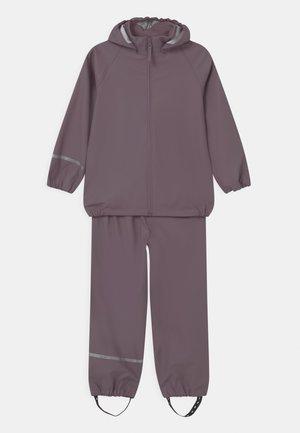 BASIC RAINWEAR SET UNISEX - Rain trousers - moonscape
