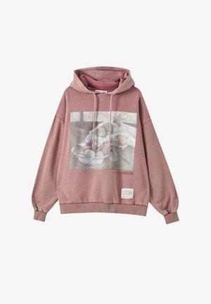 Bluza z kapturem - mottled pink