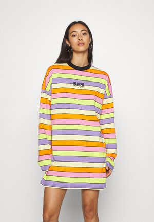 RAINBOW STRIPE SKATER DRESS - Jersey dress - multi