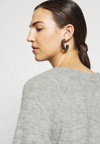 Selected Femme - Strickpullover - light grey melange - 5