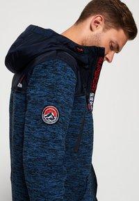 Superdry - MOUNTAIN - Zip-up hoodie - indigo navy marl - 3