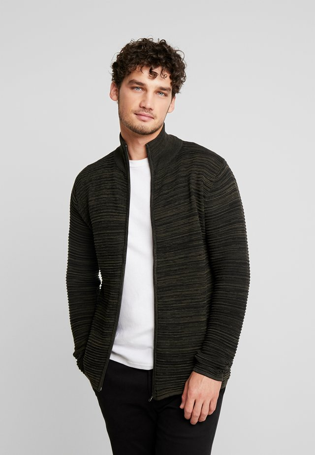 Struan Zip - Cardigan - rosin