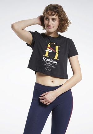 CLASSICS HOTEL CROP TOP - T-shirt con stampa - black