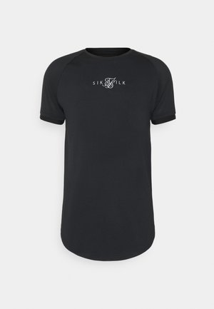 LEGACY FADE TECH TEE - Print T-shirt - black/white