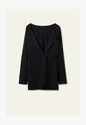 MIT KNOPF - Short coat - nero